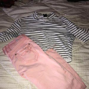 White stripped shirt